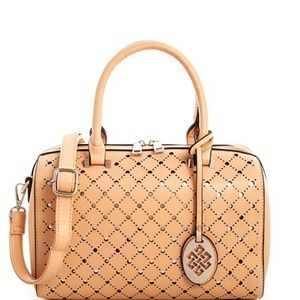 Handbags - NUDE PERFORATED HANDBAG SET